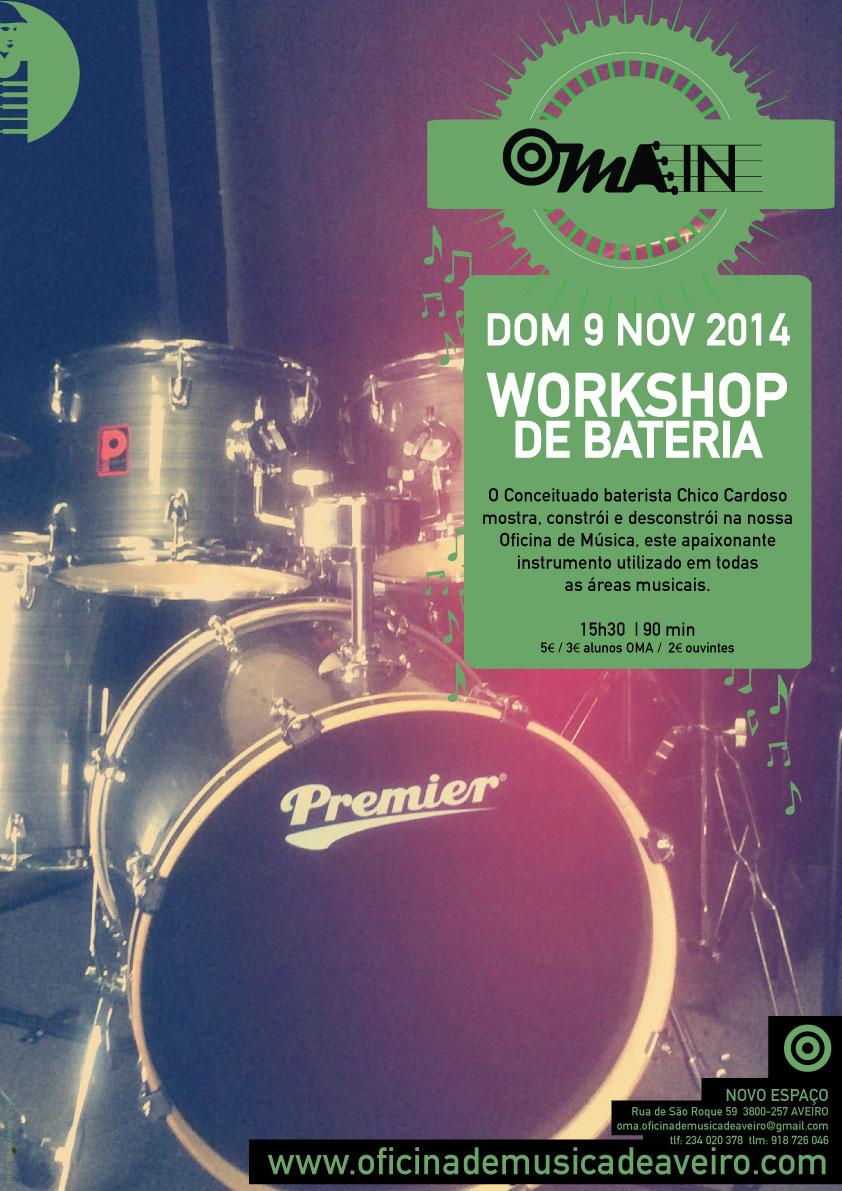 Workshop de bateria por Chico Cardoso