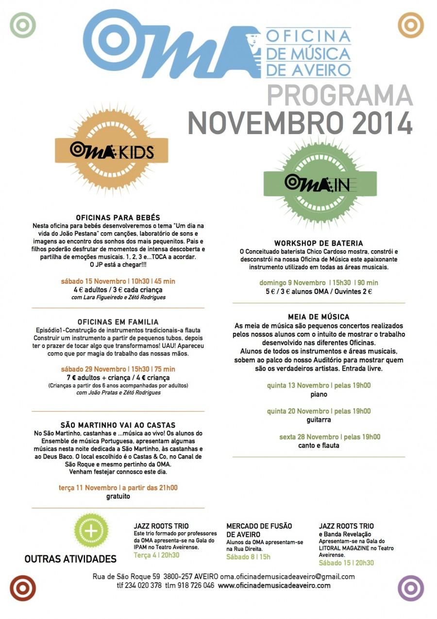 Agenda OMA novembro