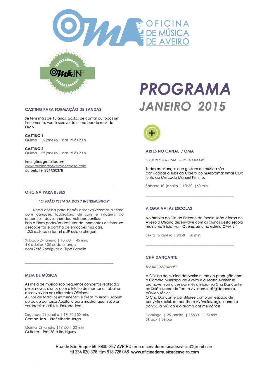 Agenda OMA janeiro