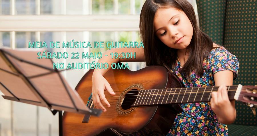 Meia de música de guitarra