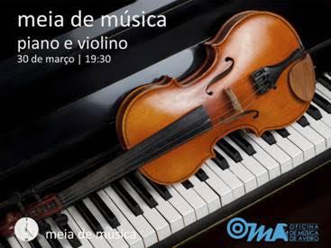 Meia de Música de Piano e Violino