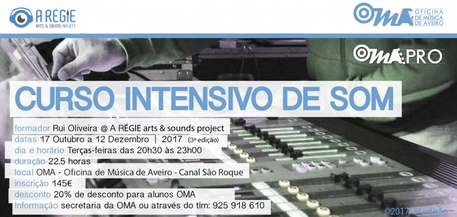 CURSO INTENSIVO DE SOM – 3ª edição